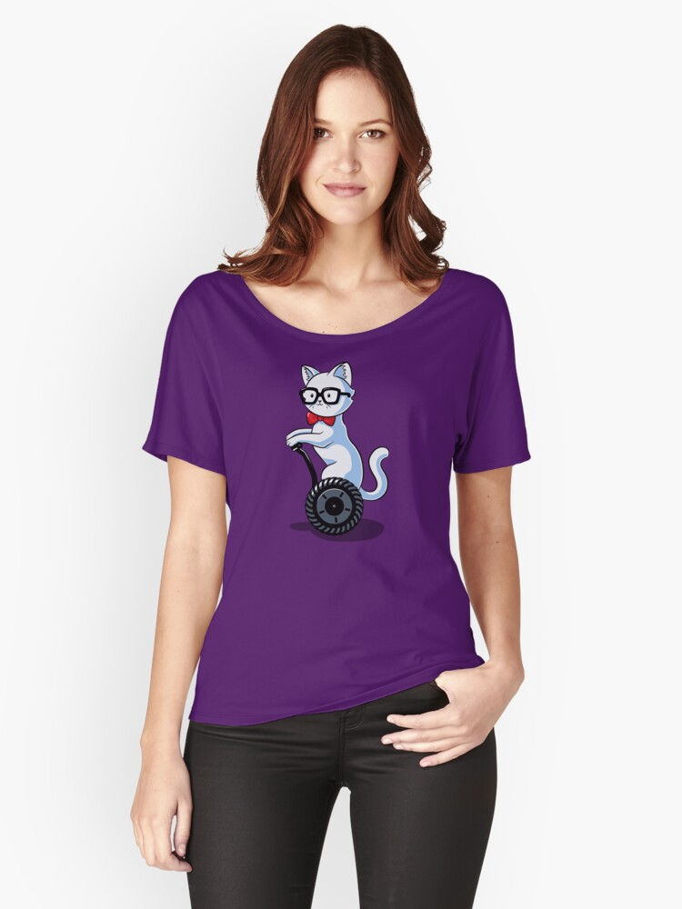 White and Nerdy Women's Relaxed Fit T-Shirt Front