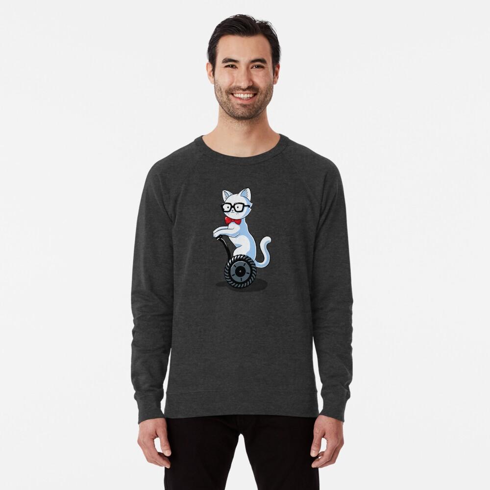 White and Nerdy Lightweight Sweatshirt