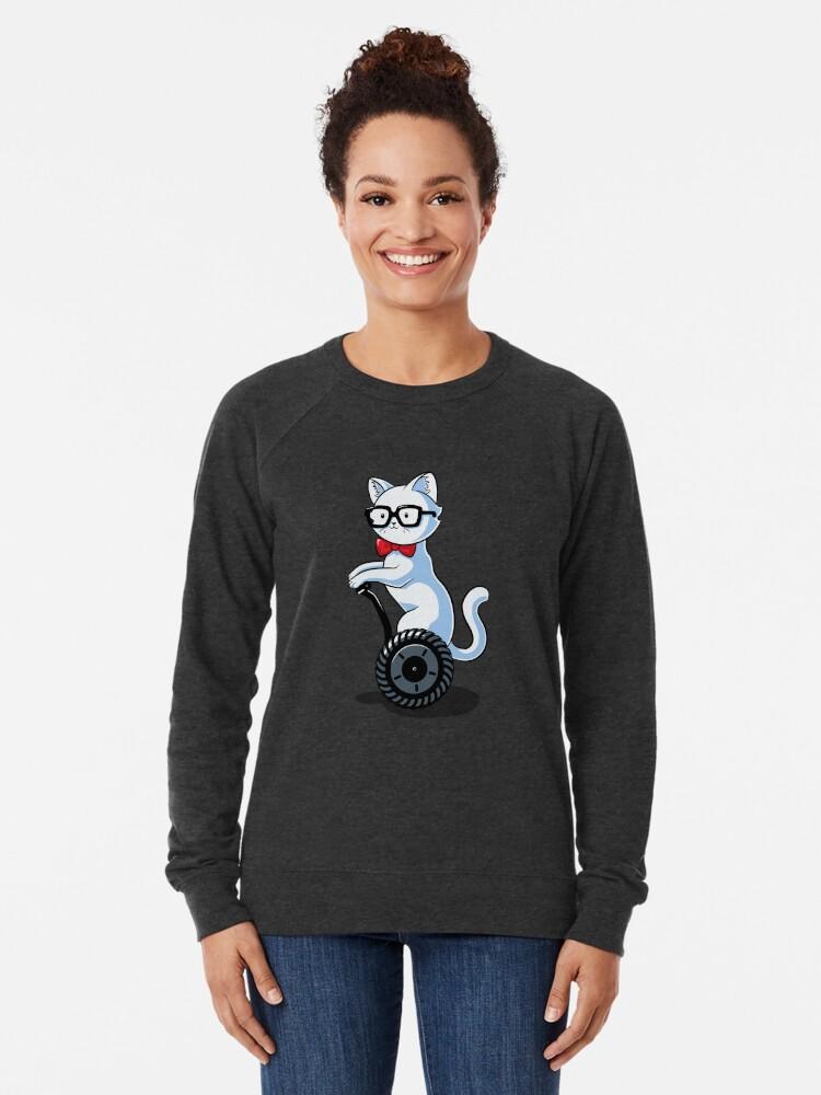 Alternate view of White and Nerdy Lightweight Sweatshirt