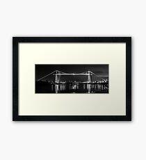 Newport Transporter Bridge at Night Panorama Framed Print