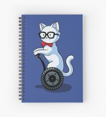 White and Nerdy Spiral Notebook