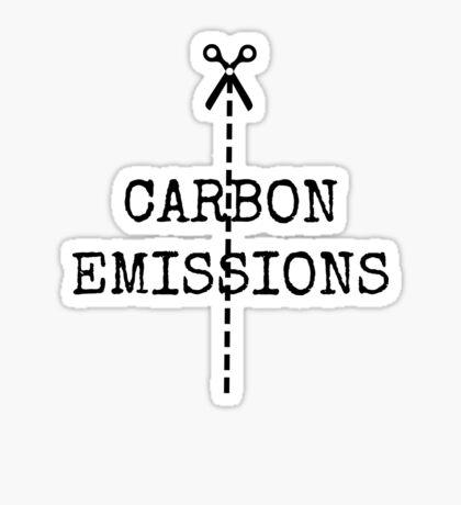 cut carbon emissions Sticker