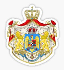 Greater Coat of Arms of Kingdom of Romania, 1922-1947 Sticker