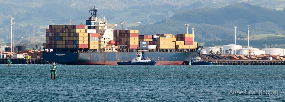 container ship by Anne Scantlebury