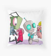 """Invader Zim- """"I, Gir"""" Throw Pillow"""