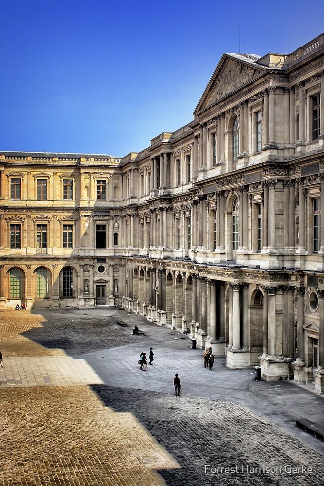 Louvre Courtyard, Paris by Forrest Harrison Gerke
