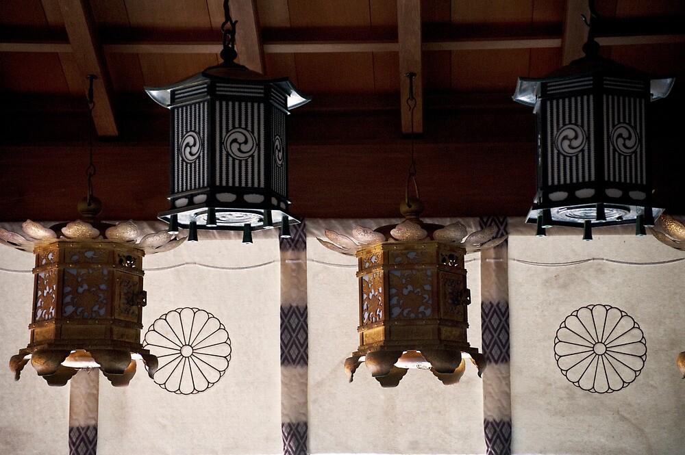 Tenkawa Benten Shrine Lanterns by Skye Hohmann