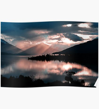 Te Anau Sunset. South Island, New Zealand. (2) Poster