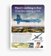 Obama Airways Drone Parody Poster Metal Print