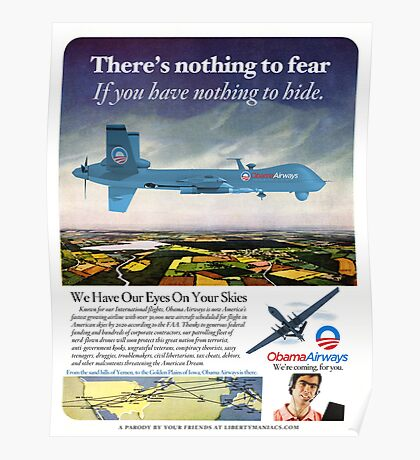 Obama Airways Drone Parody Poster Poster