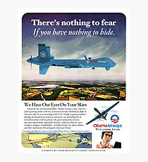 Obama Airways Drone Parody Poster Photographic Print