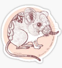 Present for You - Elephant Shrew [Pale orange] Sticker