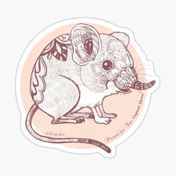 Present for You - Elephant Shrew [Pale orange] Sticker