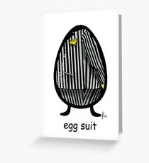 egg suit Greeting Card