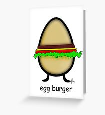 egg burger Greeting Card