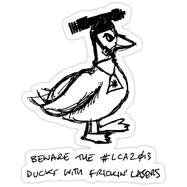 Beware the #lca2013 Ducks With Frickin' Lasers by Tim Serong