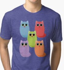 CAT FIVE POSE Tri-blend T-Shirt
