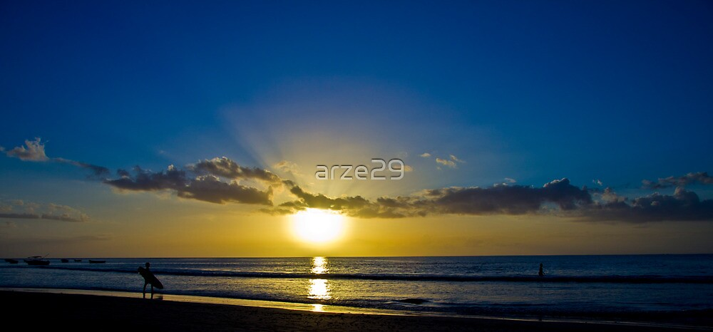 Surfer in the sunset by arze29