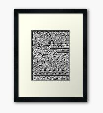 Fragmented Coding Framed Print