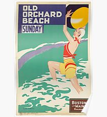 Vintage poster - Old Orchard Beach Poster