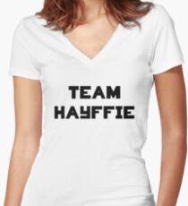 Hayffie Women's Fitted V-Neck T-Shirt