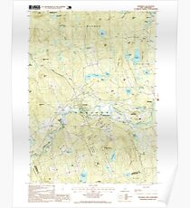 USGS TOPO Map New Hampshire NH Henniker 102672 1995 24000 Poster