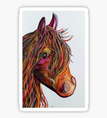 A Stick Horse Named Amber Sticker