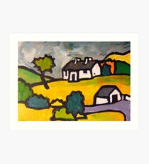 Pearse's Cottage, Rosmuc Art Print