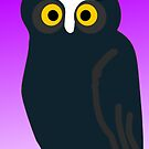 Brown Owl With Purple Background by pjwuebker