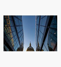 Reflecting reflection of St Pauls Photographic Print