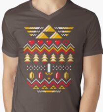 TRIFORCE HOLIDAY Men's V-Neck T-Shirt
