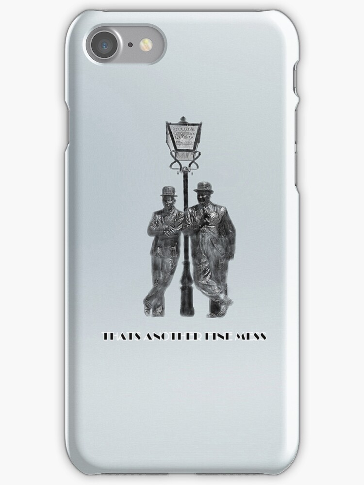 ANOTHER FINE MESS iPHONE CASE by Catherine Hamilton-Veal  ©