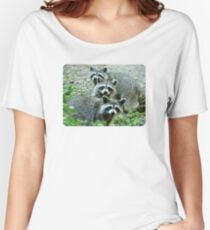Three Raccoon Women's Relaxed Fit T-Shirt