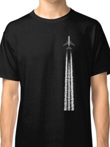 PLANE WITH CONTRAILS Classic T-Shirt