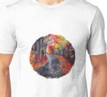 autumn path nature circle Unisex T-Shirt