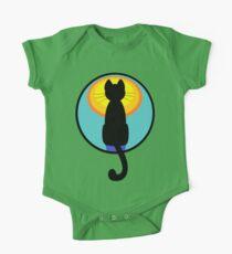 Sunrise Sunset Cat Kids Clothes