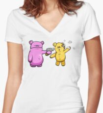 Drop Dead Ted Women's Fitted V-Neck T-Shirt