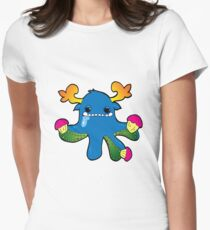 monsters and cupcakes  Womens Fitted T-Shirt