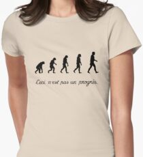 99 Steps of Progress - Surrealism Womens Fitted T-Shirt