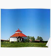 Round Barn Ohio Country Poster