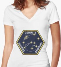 Gemini 6A Mission Logo Women's Fitted V-Neck T-Shirt