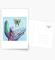American Sign Language BUTTERFLY Postcards
