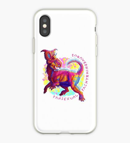 Pansexual Pachyrhinosaurus (with text)  iPhone Case