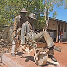 """Russian Jack"" Statue, Halls Creek, Western Australia by Margaret  Hyde"