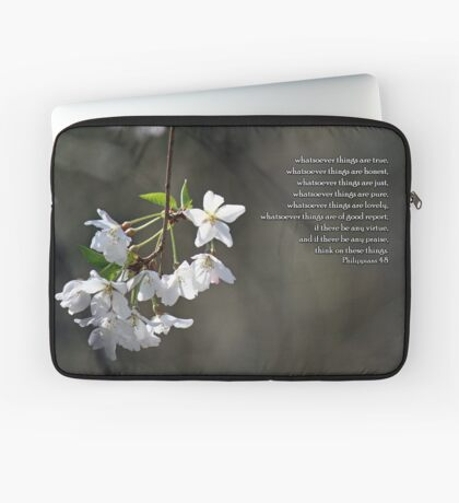 Think on these things. Laptop Sleeve