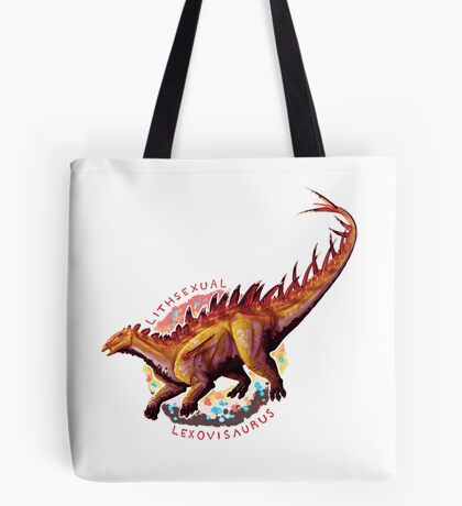 Lithsexual Lexovisaurus (with text)  Tote Bag