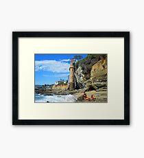 Pirate Mermaid at Victoria Beach full Framed Print