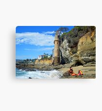 Pirate Mermaid at Victoria Beach full Canvas Print