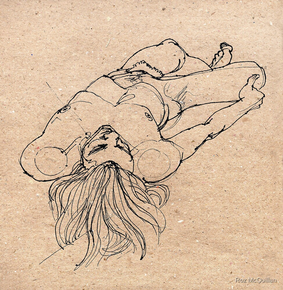 Reclining male nude by Roz McQuillan