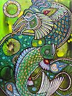 Dragon and Koi by Lynnette Shelley